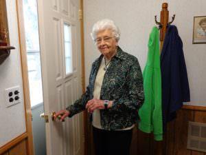 picture of an older woman wearing a medical alert bracelet