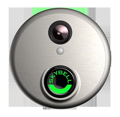silver video doorbell